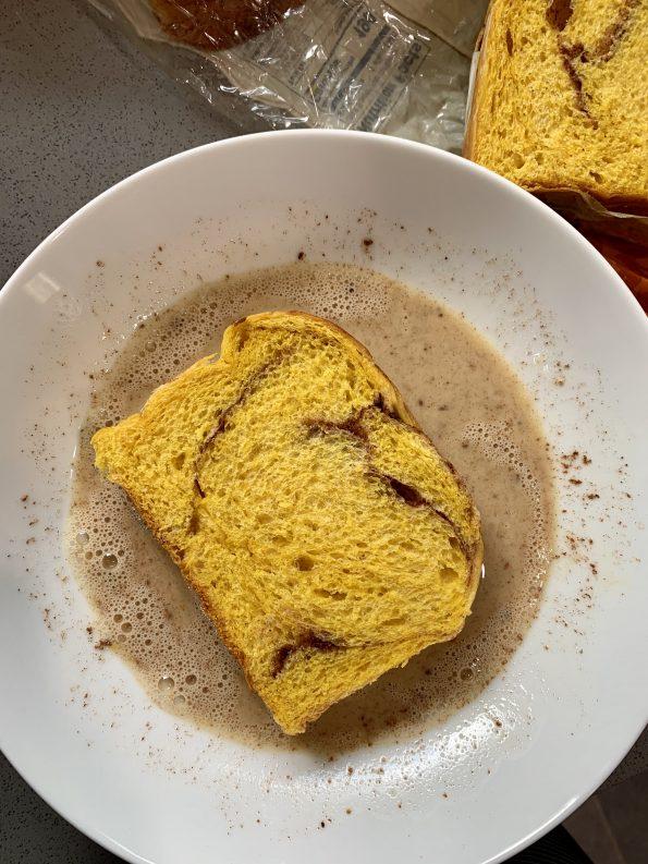pumpkin brioche French toast